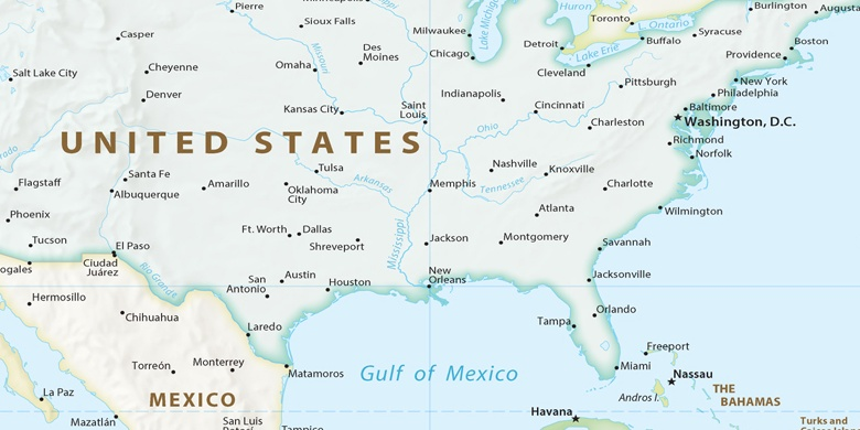 Houston en el mapa